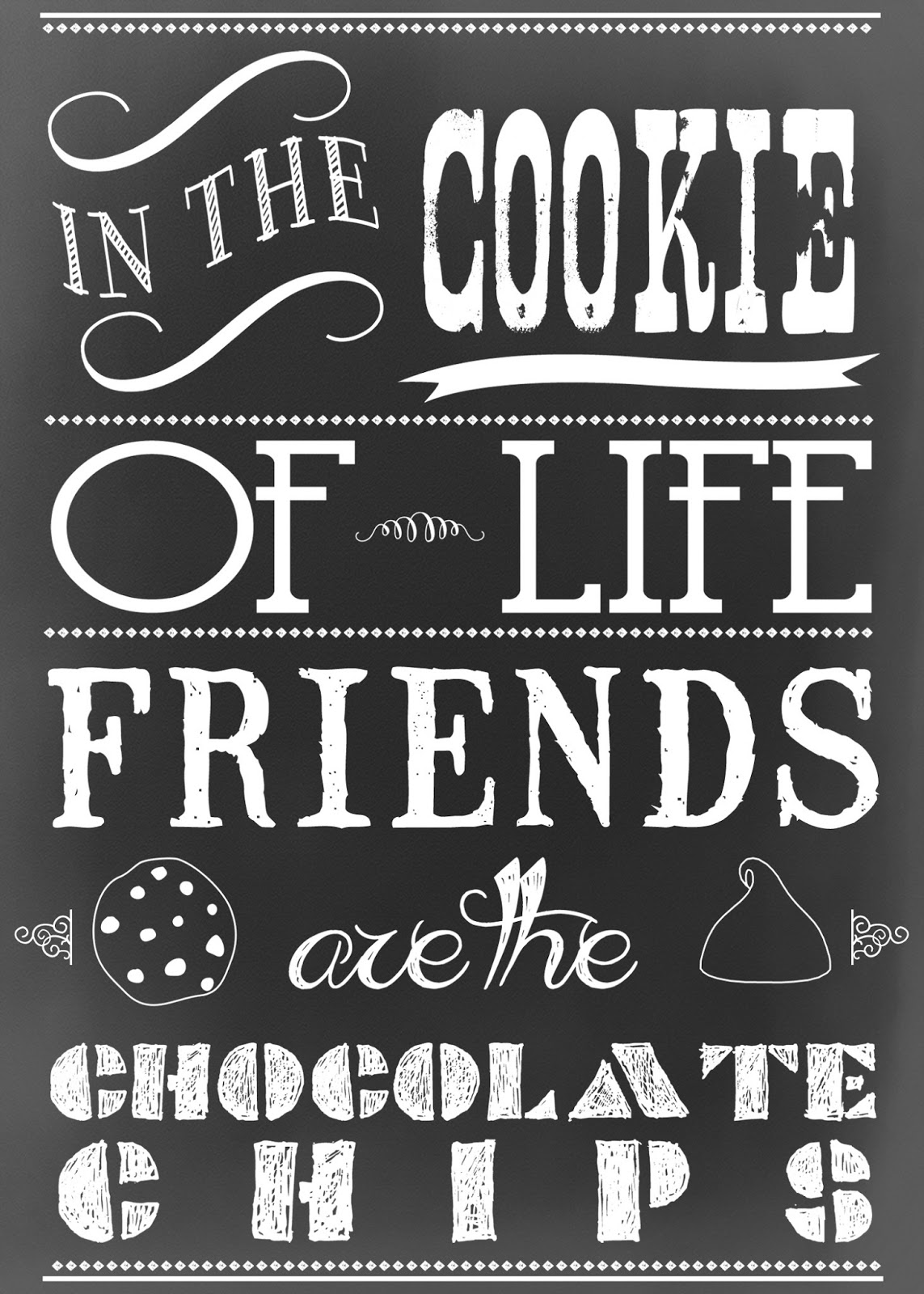 Free Chalkboard Printable Celebrating National Chocolate