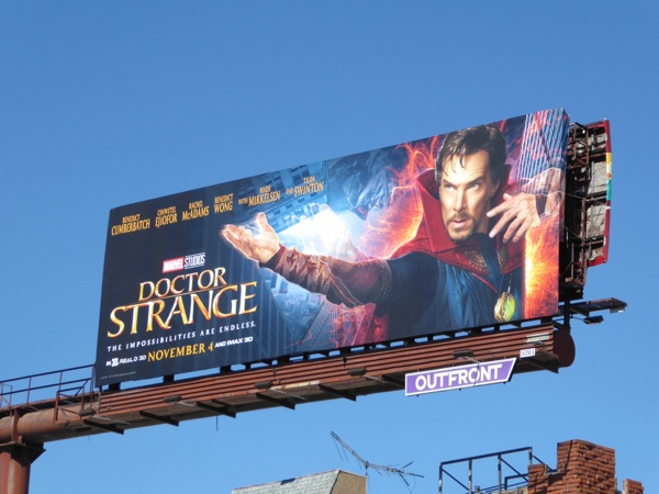 Benedict Cumberbatch Doctor Strange movie billboard