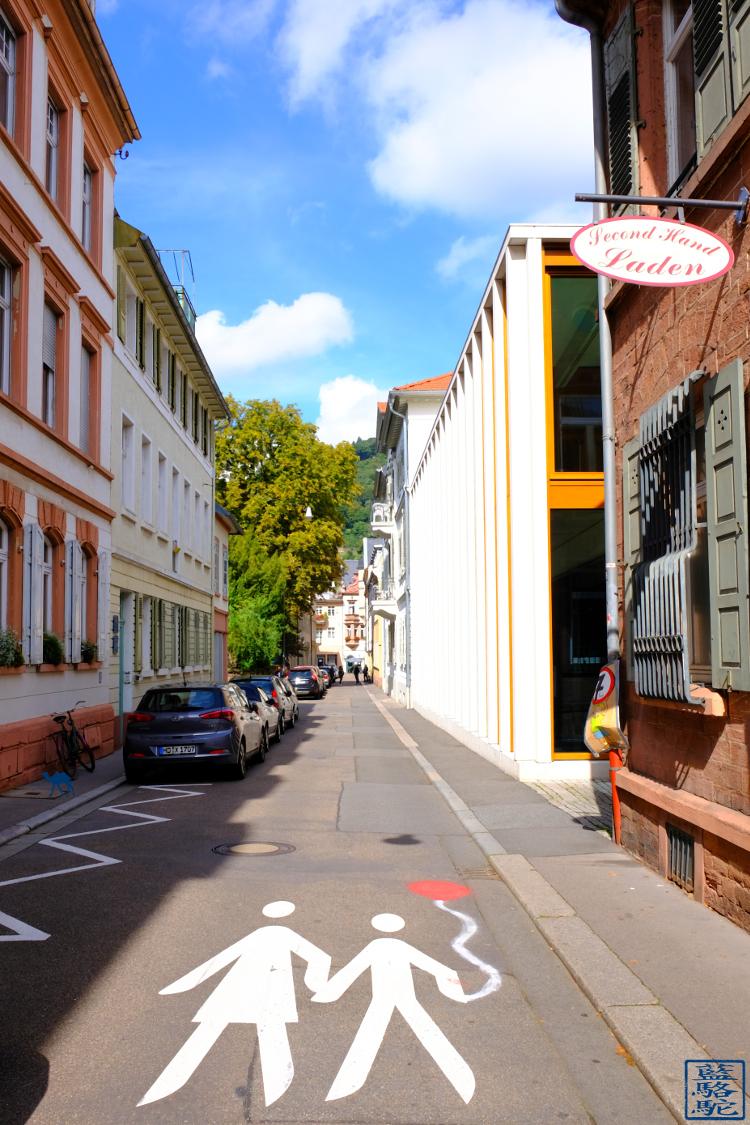 Le Chameau Bleu - Blog Voyage Heildeberg Allemagne - Rue du Centre ville d'Heidelberg Deutschland