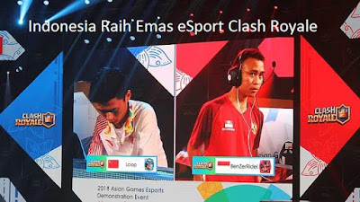 Indonesia Raih Emas eSport Clash Royale