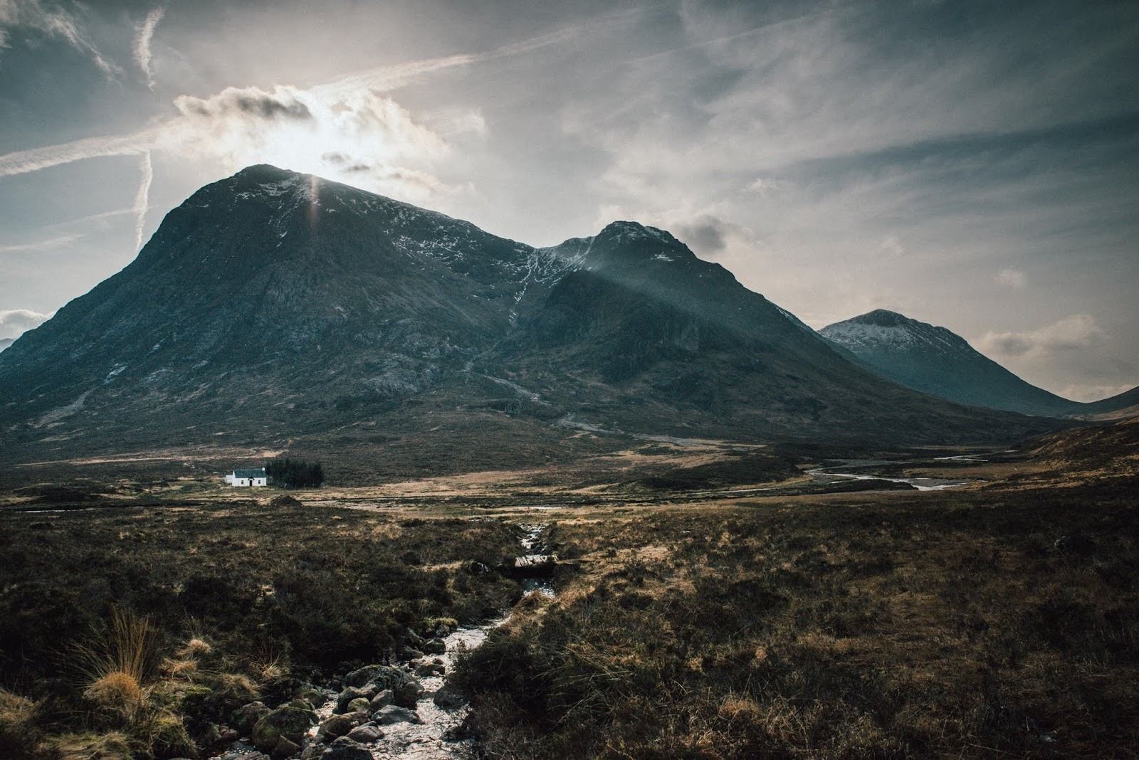glen coe white house photo stitching liquid grain liquidgrain scotland