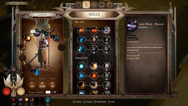Warhammer: Chaosbane | menu