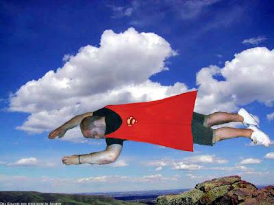Besoffener Supermann lustige Fotomontage