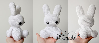 Krawka: Cute crochet bunny pattern by Krawka, free pattern rabbits bunnies