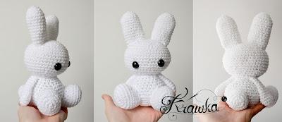 Krawka: Cute crochet bunny pattern by Krawka, free pattern rabbits bunnies