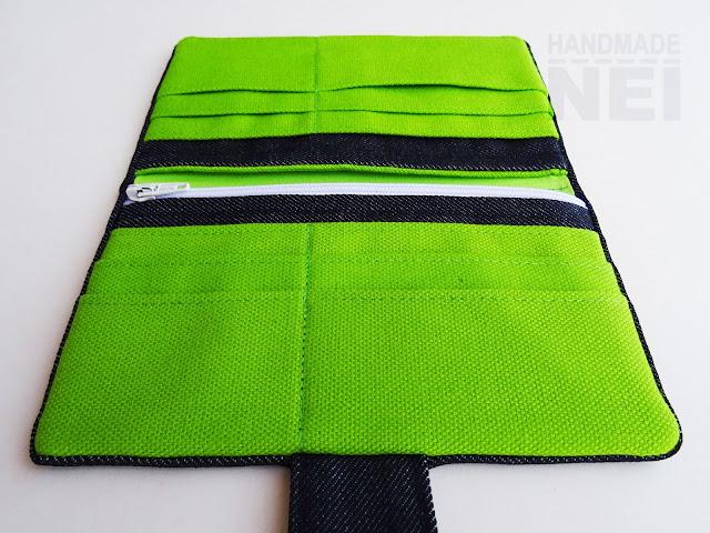 """Handmade Nel: Дънково портмоне от плат """"Зелено"""""""