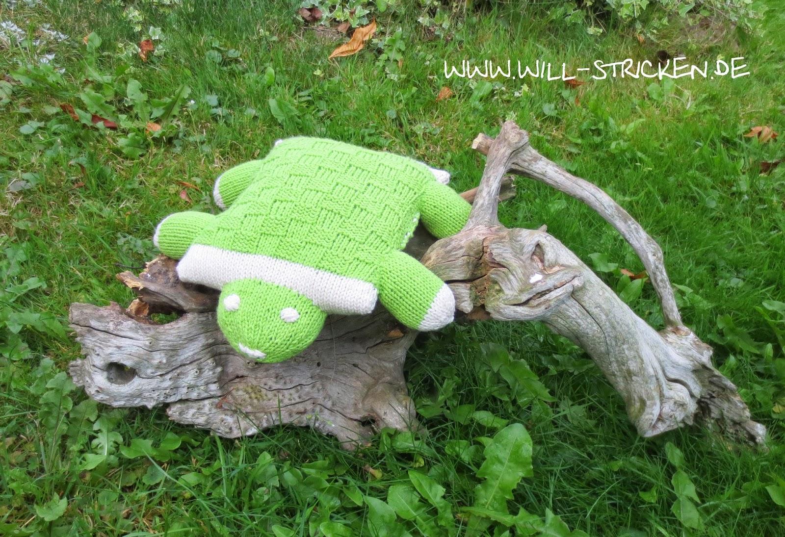 Kuschelkissen Schildkröte stricken