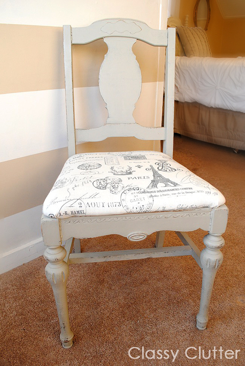& Chalk Paint Desk and Chair Makeover - Classy Clutter