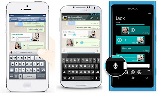 together with Symbian late added the might to vocalization messaging WhatsApp has vocalization messaging directly
