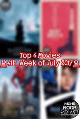 Top 4 Movies (4th Week of July 2017)