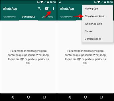 Evangelizar pelo WhatdApp lista