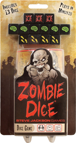 Game box for Zombie Dice