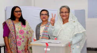 Landslide's victory in parliamentary polls for Bangladesh PM Hasina's party