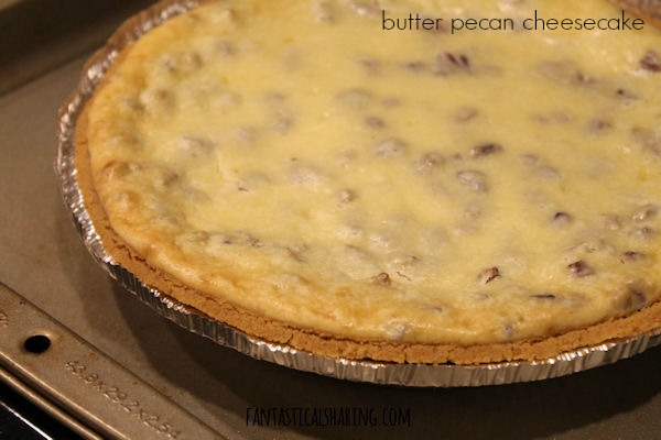 Butter Pecan Cheesecake #recipe #dessert #cheesecake #butterpecan