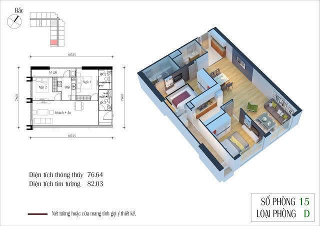 Thiết kế căn 15 tòa CT2 Eco Green City