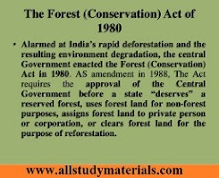 Forest (Conservation) Act, 1980 - Amendments Made in 1988