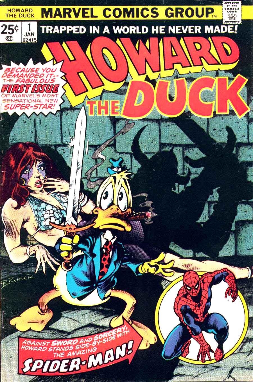 Howard the Duck v1 #1 marvel 1970s bronze age comic book cover art by Frank Brunner