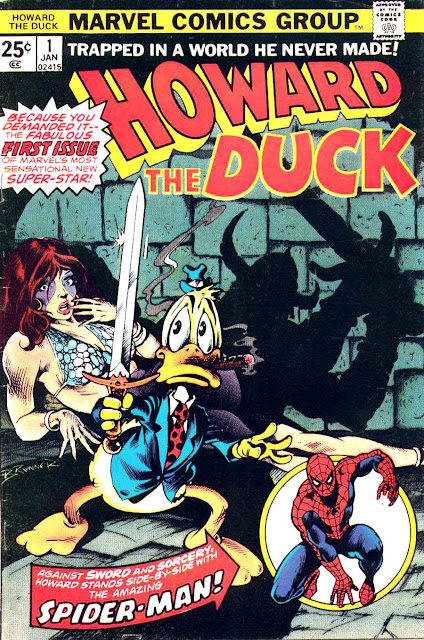 Howard the Duck v1 #1 marvel 1970s bronze age comic book cover art by Frank Brunner