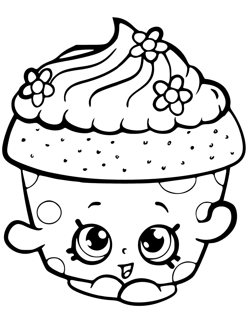 Click to see printable version of Cupcake Shopkin Coloring page