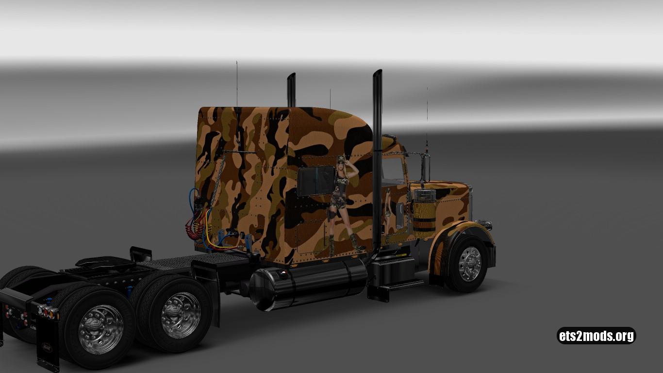 Camouflage Skin for Peterbilt 389