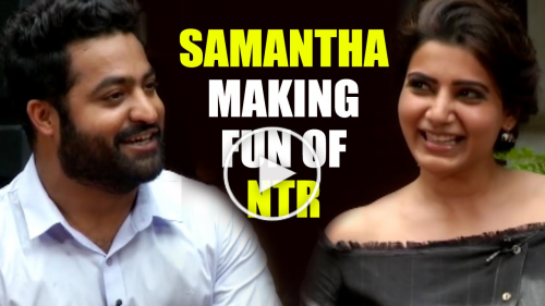 NTR and Samantha Funny Conversation