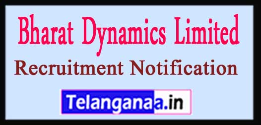 BDL Bharat Dynamics Limited Recruitment Notification 2017