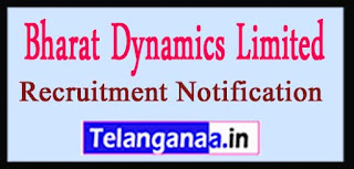 BDL Bharat Dynamics Limited Recruitment Notification 2017 Last Date 20-04-2017