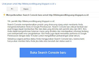Search console Baru