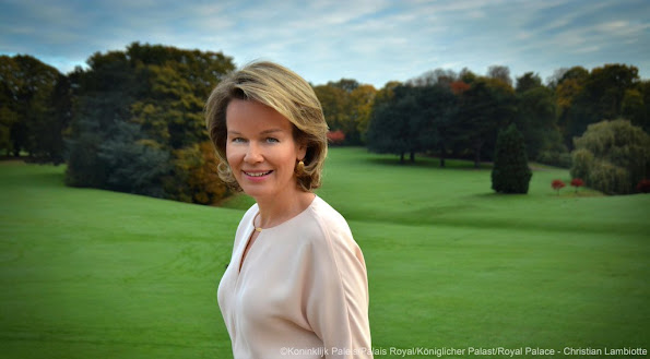 "Queen Mathilde of Belgium celebrates her 43rd birthday. On occasion of 43rd birthday of the Queen, Royal House of Belgium published a new photo under the title of ""Thank you for all good wishes regarding my birthday. Queen Mathilde Style, fashion, mode."