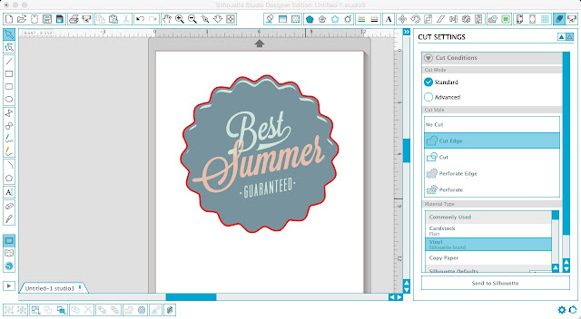 Silhouette Studio, Silhouette tutorial, trace and detach tool, print and cut, cut edge