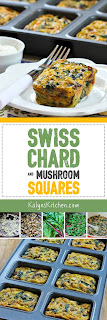 Swiss Chard and Mushroom Squares found on KalynsKitchen.com