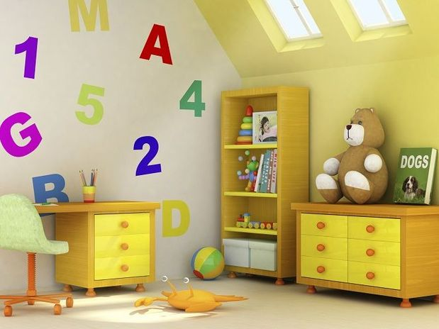 decorando casas Idéias para crianças quartos