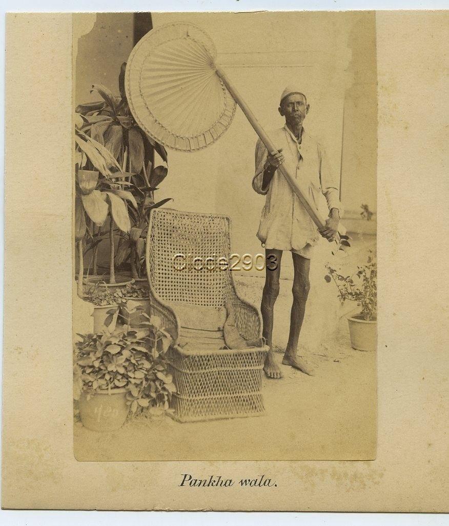 Pankha Wala - India, c1870's
