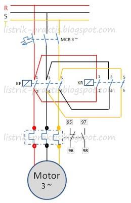 Rangkaian DOL Motor Listrik 3 Fasa ListrikPraktis