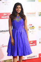 Eesha in Cute Blue Sleevelss Short Frock at Mirchi Music Awards South 2017 ~  Exclusive Celebrities Galleries 030.JPG
