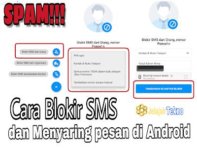 Blokir sms masuk