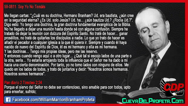 Cual es su Doctrina Hermano Branham