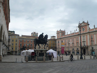 The Piazza Cavalli in Piacenza is so called because of its two bronze equestrian statues by Francesco Mochi