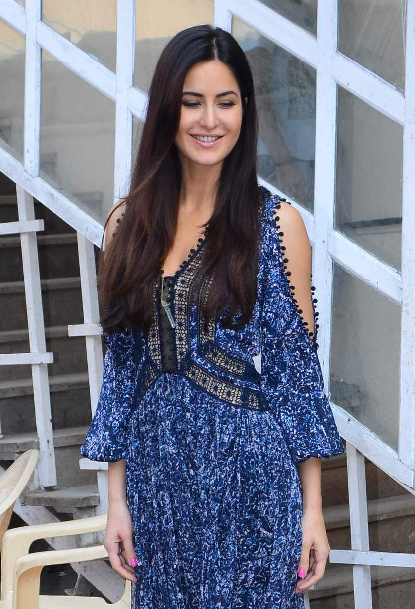katrina kaif Stills In Long  Blue Dress Hot