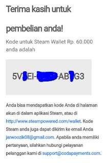 Kode unik untuk Redeem Wallet