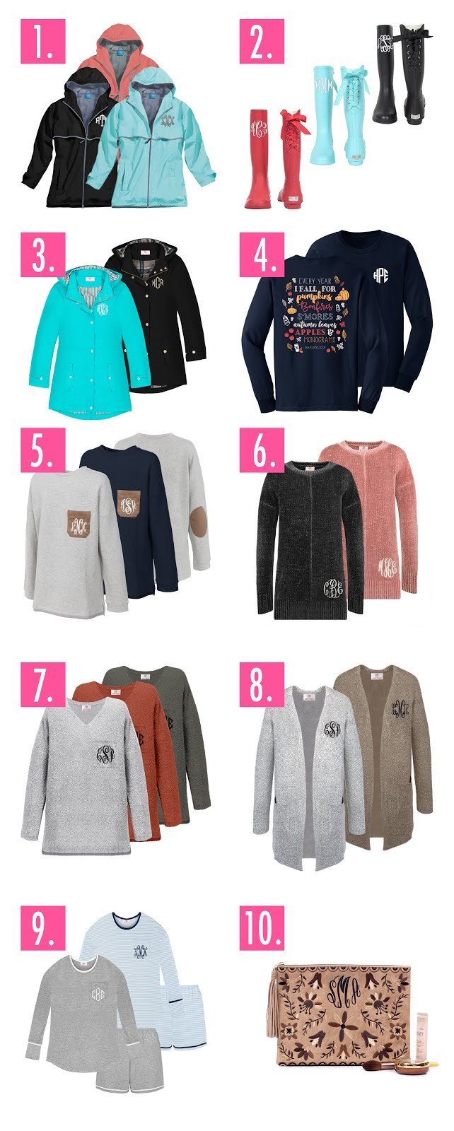 monogrammed clothing and accessories