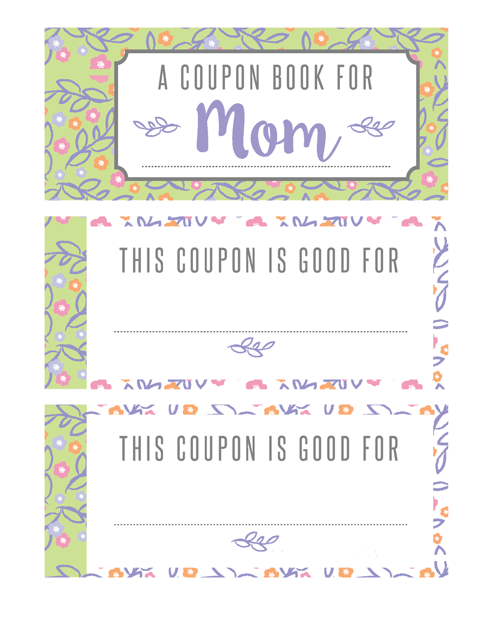 make your own mother 39 s day coupon book printable ting and things. Black Bedroom Furniture Sets. Home Design Ideas