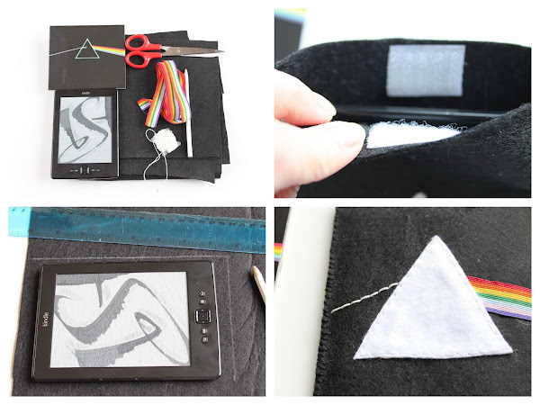 "DIY Custodia Kindle ""The Dark Side Of The Moon"" / DIY Kindle Cover"