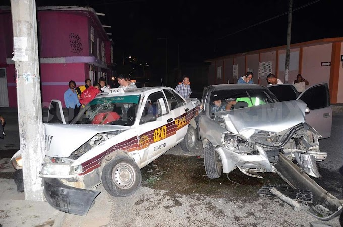 Cuatro heridos en percance vial