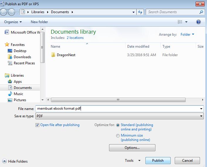 Cara Membuat Ebook Format Pdf Menggunakan Microsoft Word ...