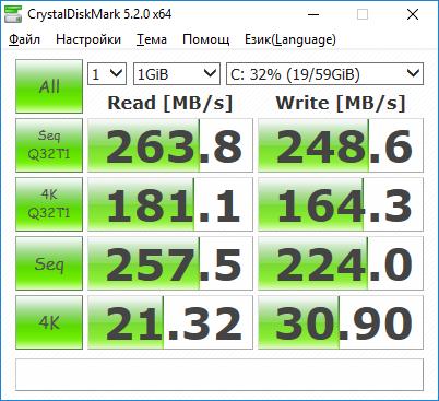 последен тест на Netac NT620 под Windows 10 в Fujitsu Lifebook AH530