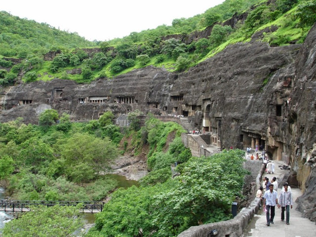 UNESCO World Heritage Sites, Ajanta caves - Ancient Buddhist monastery