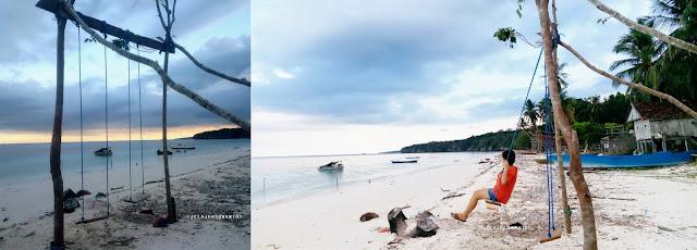 Pantai Mandala Ria: Ayunan menghadap lautan +fotojelajahsuwanto