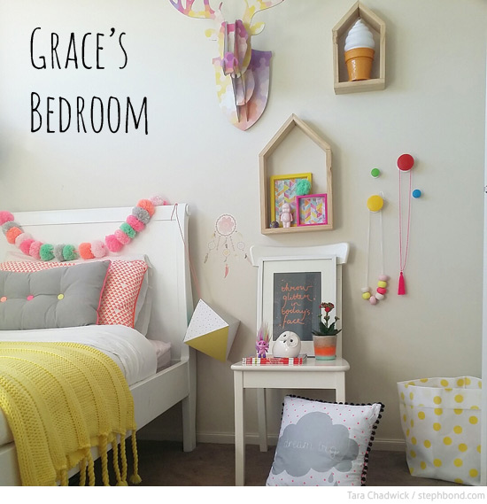 Pastel Colors Kids Room: Bondville: Grace's Pretty Pastel Girl's Bedroom