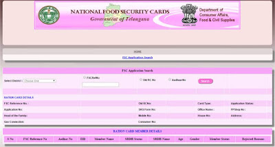 Ration Card Status Telangana